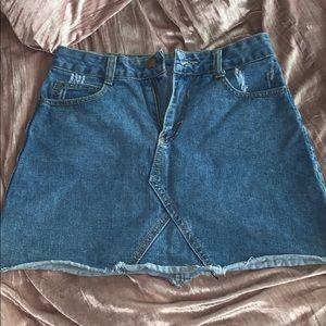 Brandy Melville blue jean skirt.